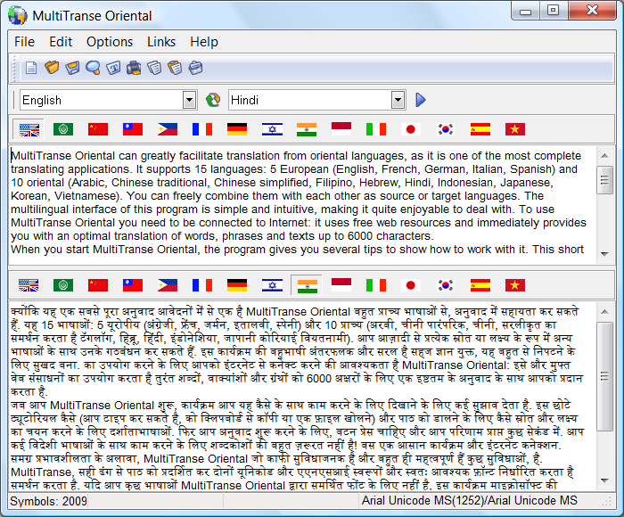 Hindi translation software
